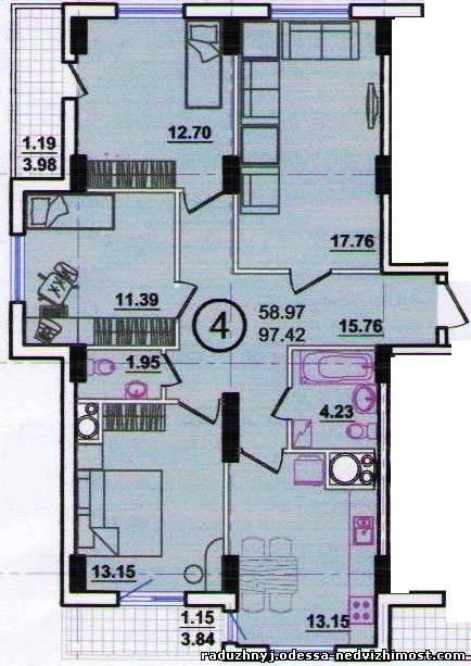 4 комнатная квартира планировка фото